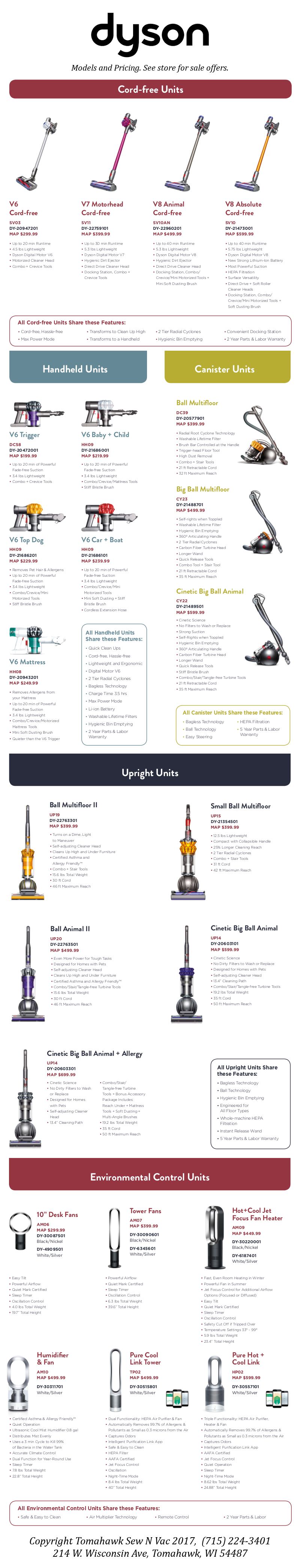 Dyson Inventory